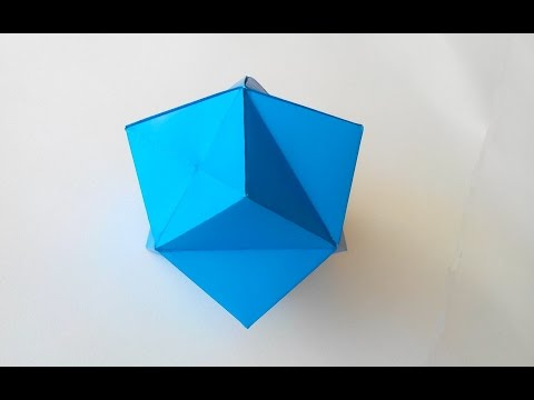 Origami Octahedron Box  Decoration Instructions   Paper