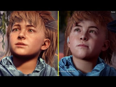 Horizon Zero Dawn E3 2016 PS4 vs PS4 Pro 4K 2017 Retail  Graphics Comparison
