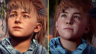 Horizon Zero Dawn E3 2016 PS4 vs PS4 Pro 4K 2017 Retail  Graphics Comparison