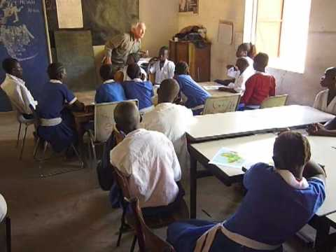 Jan de Grauw teaches at St. Andrews School in Berending, The Gambia