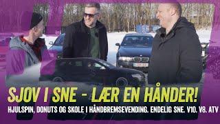 Sjov med biler i sne - Audi RS6, BMW M5 og ATV! High on Cars køreskole