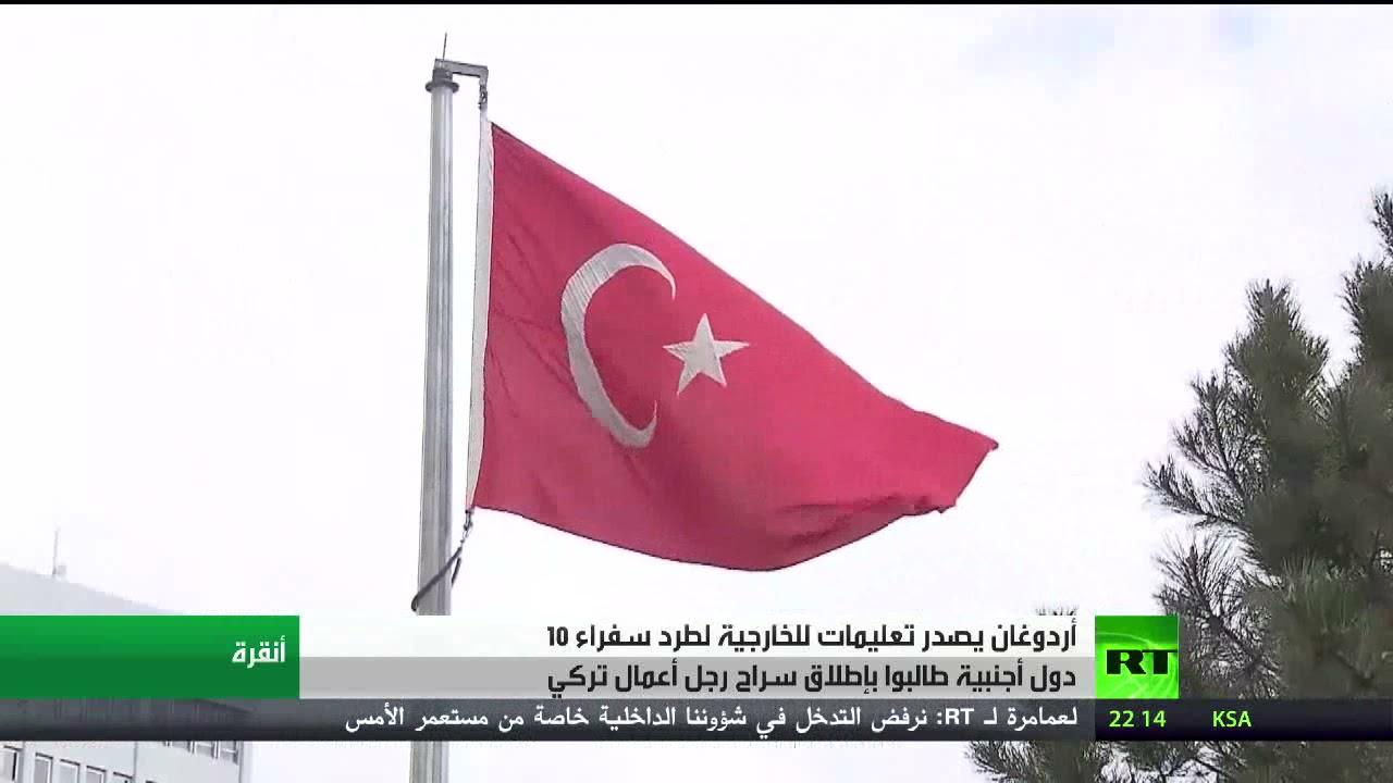 أردوغان يدعو لطرد 10 سفراء أجانب من تركيا  - نشر قبل 36 دقيقة