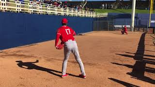 Shohei Ohtani Warming Up at Spring Training