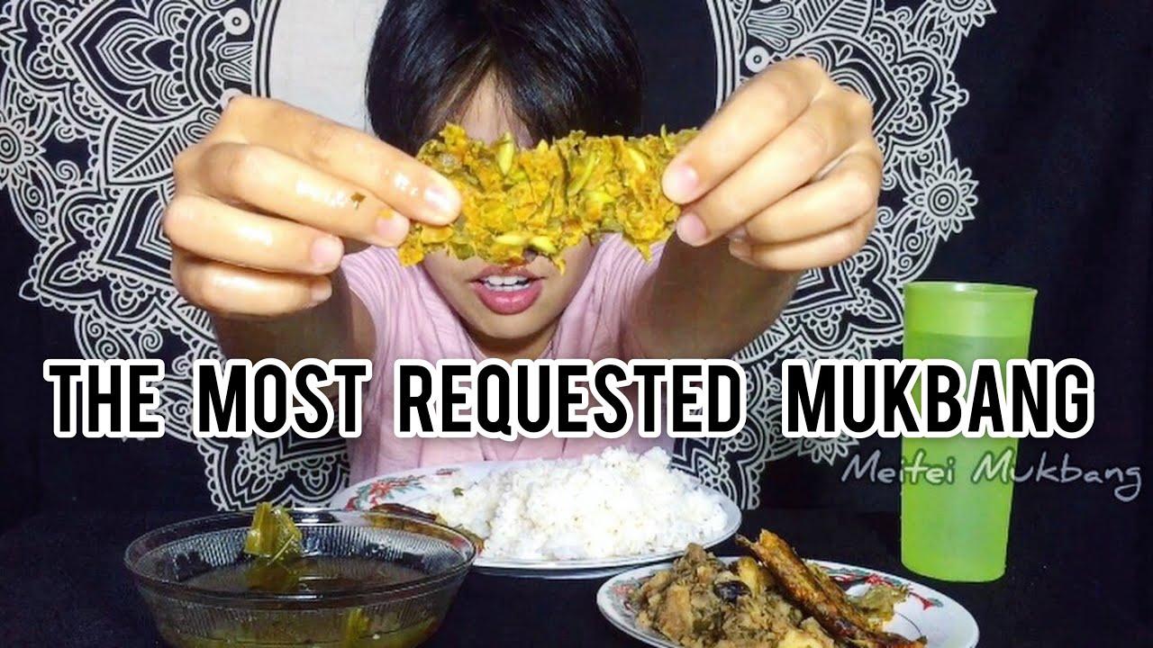 SOUGRI, YONGCHAK PAKNAM Mukbang | Healthy Organic Manipuri Dish | Meitei Mukbang |