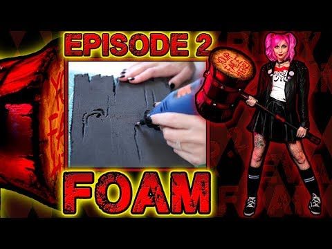 HARLEY QUINN MALLET TUTORIAL (ft. Glam&Gore) | Episode 2: Cutting EVA Foam