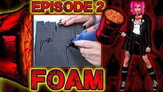 HARLEY QUINN MALLET TUTORIAL (ft. Glam&Gore)   Episode 2: Cutting EVA Foam