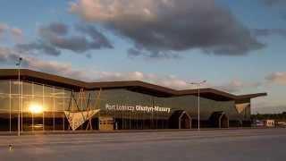 Port Lotniczy Olsztyn-Mazury wnętrza budynku terminala