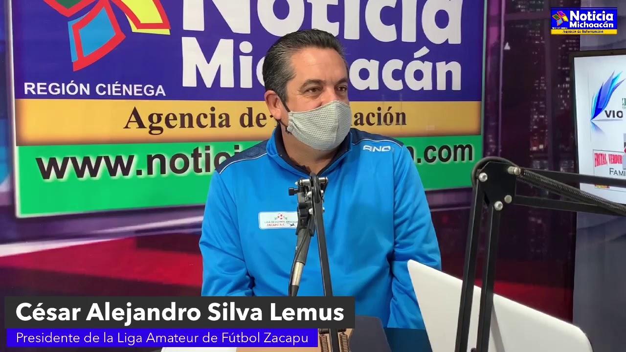 Liga amateur de fútbol Zacapu es la 2da. más grande a nivel Michoacán: César Alejandro Silva