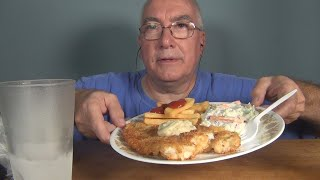 ASMR Eating a Home Cooked Haddock Plate Whispering
