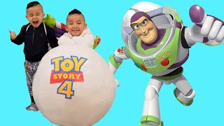 BIGGEST TOY STORY 4 Surprise Egg  Ever Unboxing Fun With CKN Toys