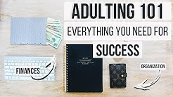 Adulting 101 For High School + College Students | Budgeting, Organization, Time Management , Habits