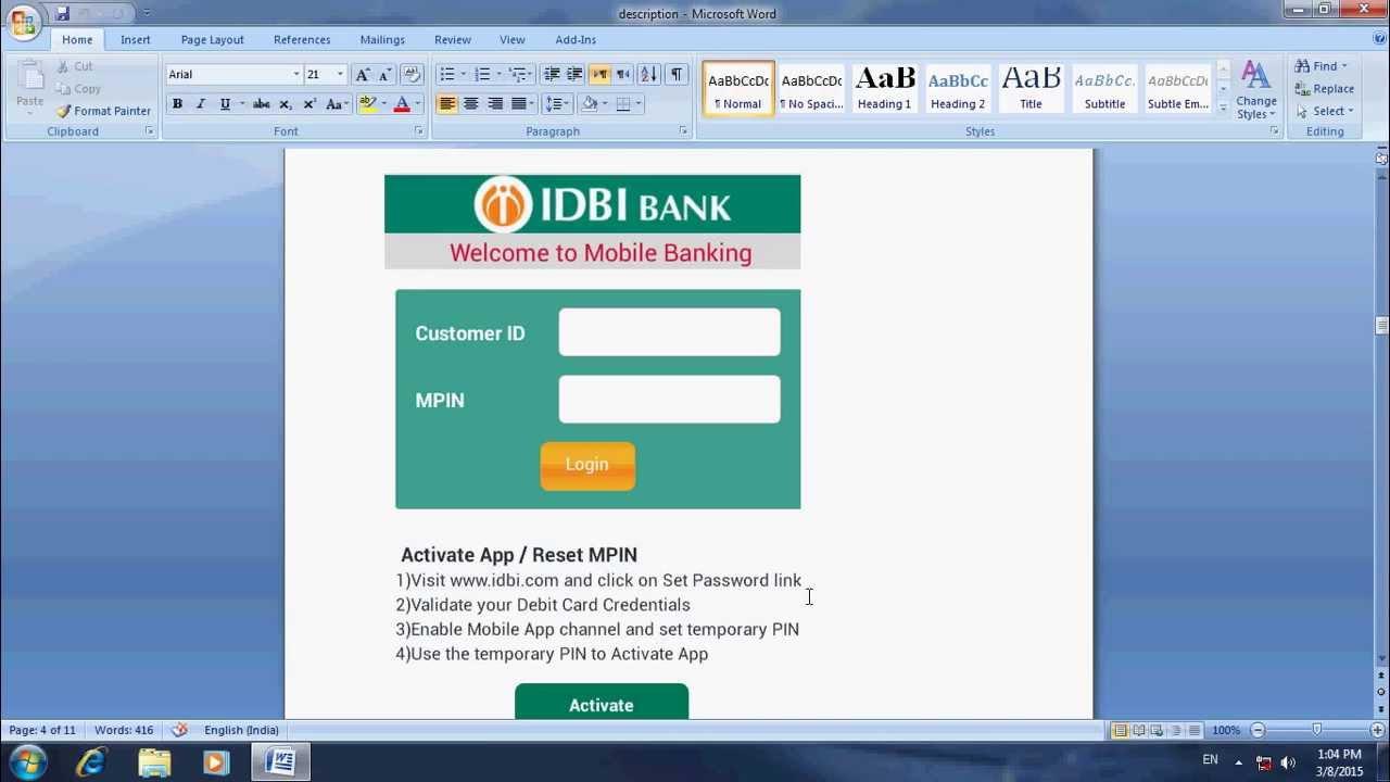 idbi netbankingt banking