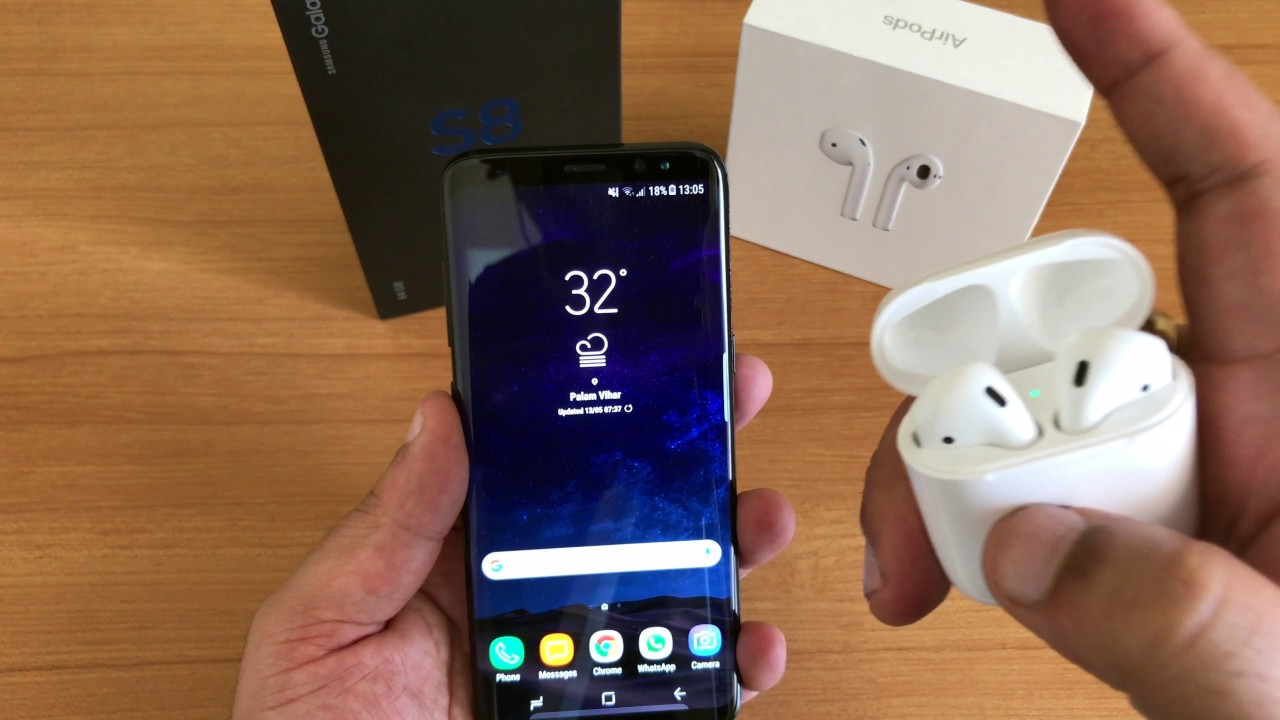 31efe5b590f Do Apple Airpods work with Samsung Galaxy S8? - YouTube