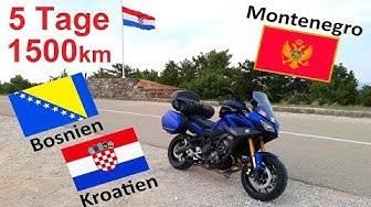 Motorradtour durch Kroatien, Bosnien und Montenegro 2019 | Yamaha Tracer 900 GT