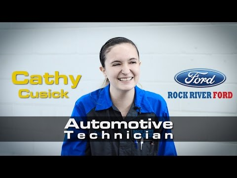 Introducing Cathy, The First Female Technician At The Rock River Block
