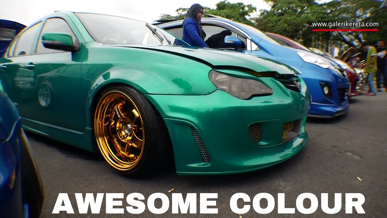 Free Wallpaper Old Cars Proton Persona Green Gold Combo Modified Gathering Geng