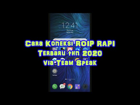 Cara Koneksi Roip RAPI Terbaru Melalui Team Speak Android