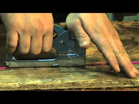 How to Operate a Staple Gun