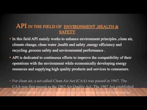 About American Petroleum Institute (API)
