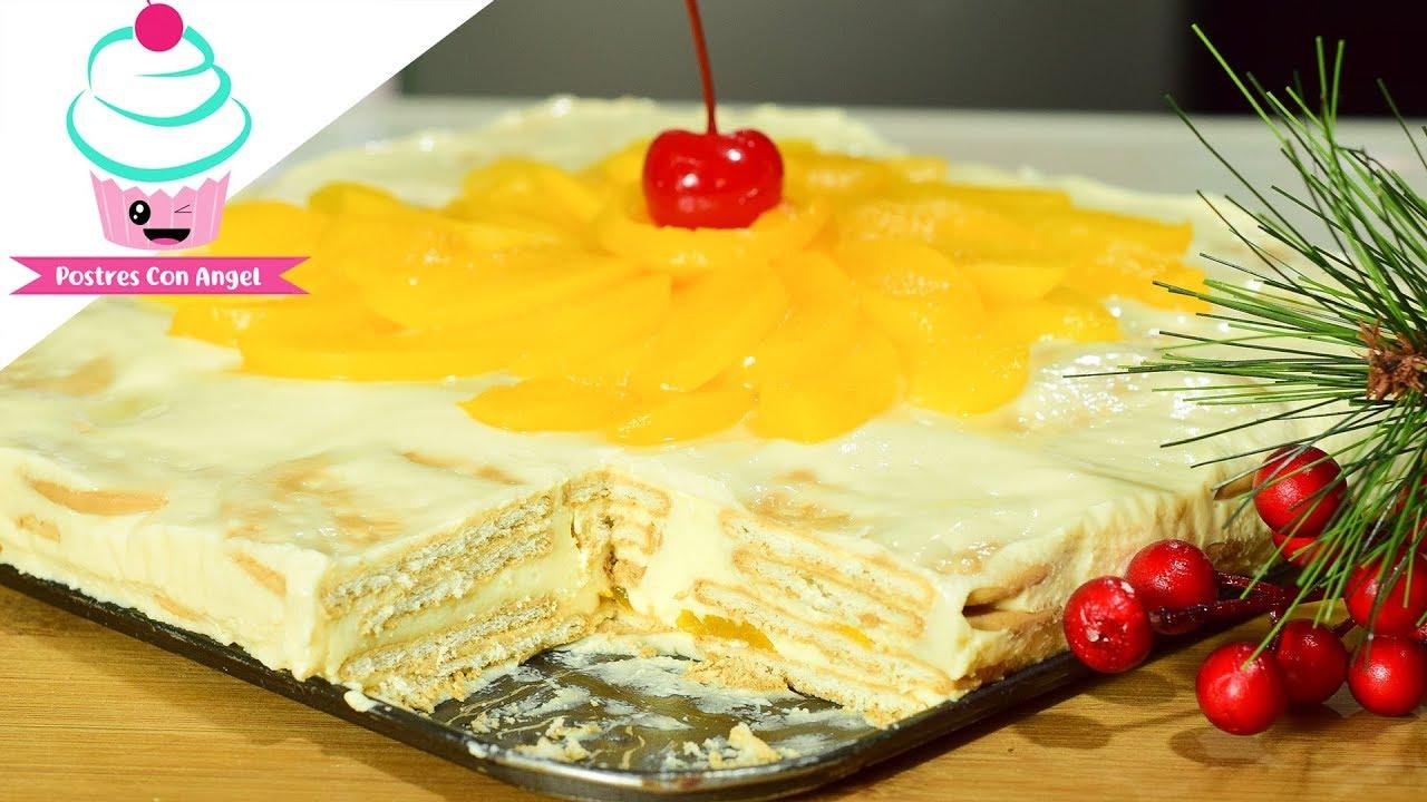 Postre de galletas maria con durazno youtube - Cocinar con conservas ...