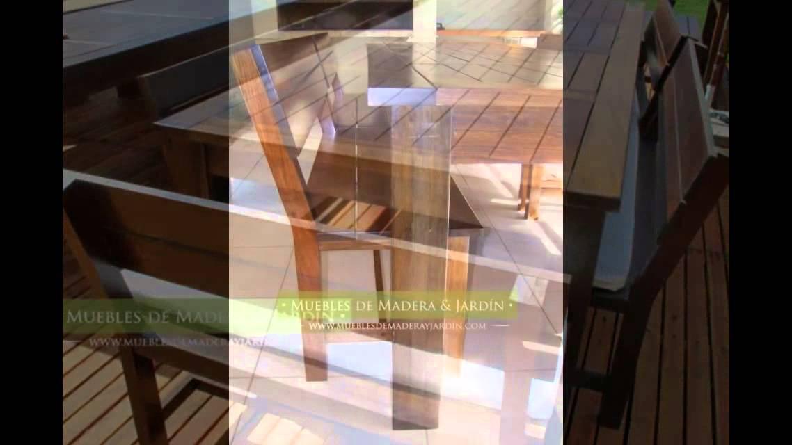 Bancos para quinchos - Muebles de madera y jardín .COM - YouTube