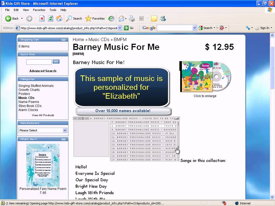 personalized with your name barney music physical cd or mp3 rh youtube com