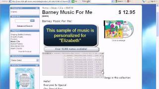 Personalized with your name: Barney Music - Physical CD or MP3 Download Format