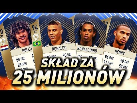 FIFA 18 - Skład za 25 milionów monet!