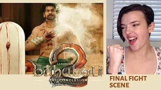 Bahubaali 2 Final Fight Scene REACTION!!! | Indi Rossi