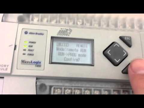 Micrologix 1400 Memory Module Youtube