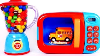 Learn Colors with Toy Vehicles for Children Microwave Playset and Yippee Toys