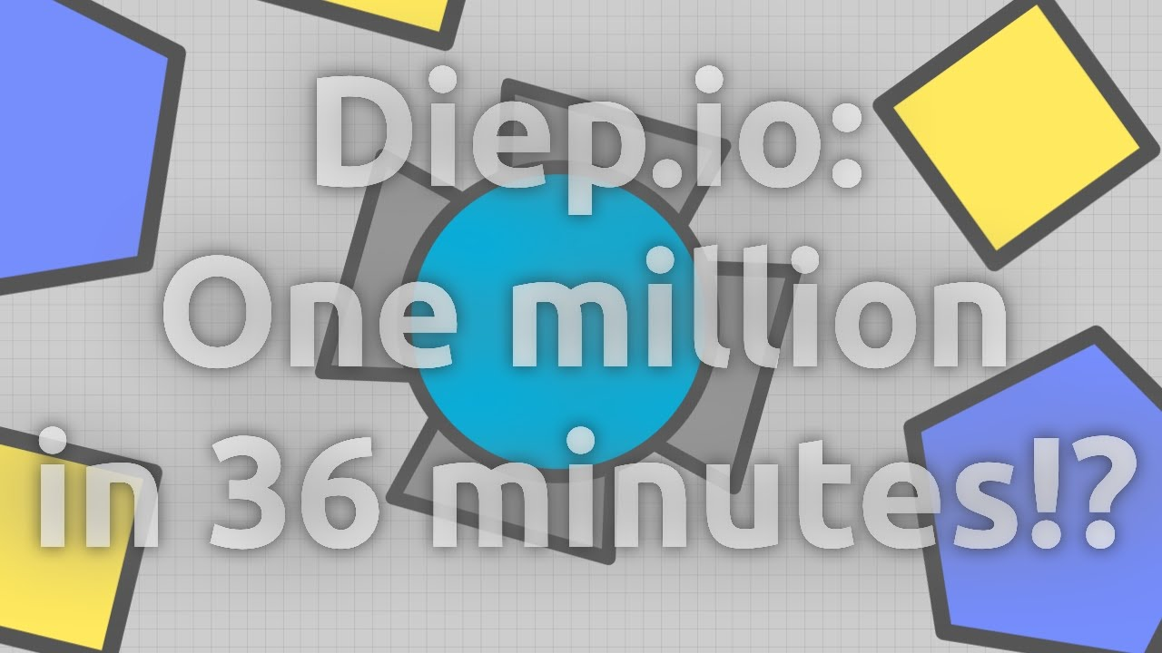 Diep.io: FASTEST TIME TO ONE MILLION WORLD RECORD PROOF!?