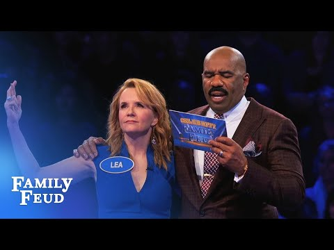 Lea Thompson plays Fast Money!  Celebrity Family Feud