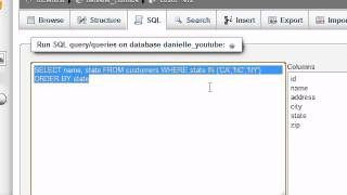 MySQL Database Tutorial - 12 - Are you IN or are you NOT IN?