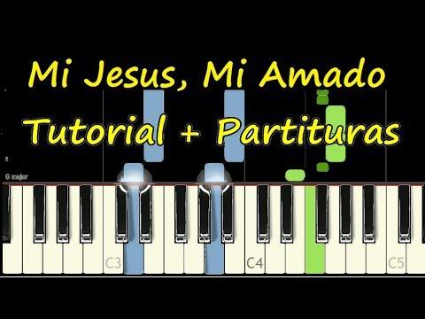MI JESUS MI AMADO Piano Tutorial Cover + Partitura PDF Sheet Music Midi Jesus Adrian Romero thumbnail