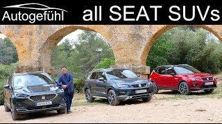 Seat Tarraco vs Ateca vs Arona SUV comparison REVIEW with a trip to each city!