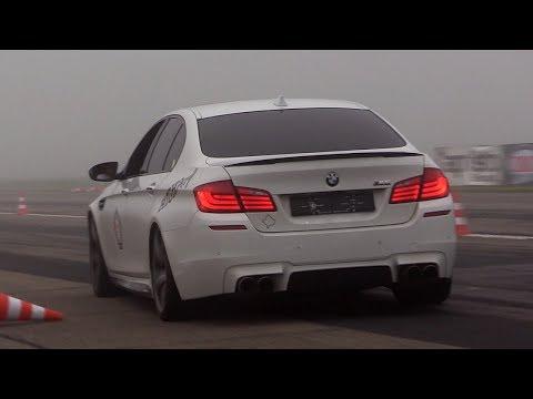 720HP BMW M5 F10 w/ Akrapovic Exhaust – Donuts, Revs & Drag Racing!