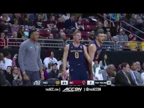 Notre Dame vs Boston College College Basketball Condensed Game 2018