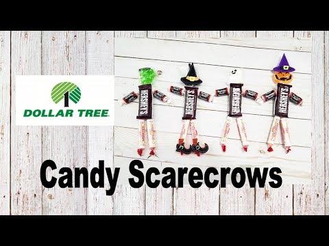 Candy Scarecrow Dollar Tree Craft DIY