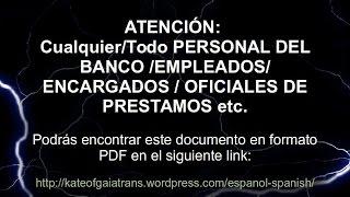 ATENCIÓN: PERSONAL DEL BANCO ...