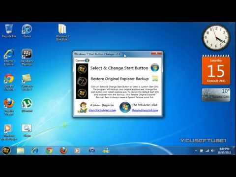 How to Change Windows 7 Start Button Orb