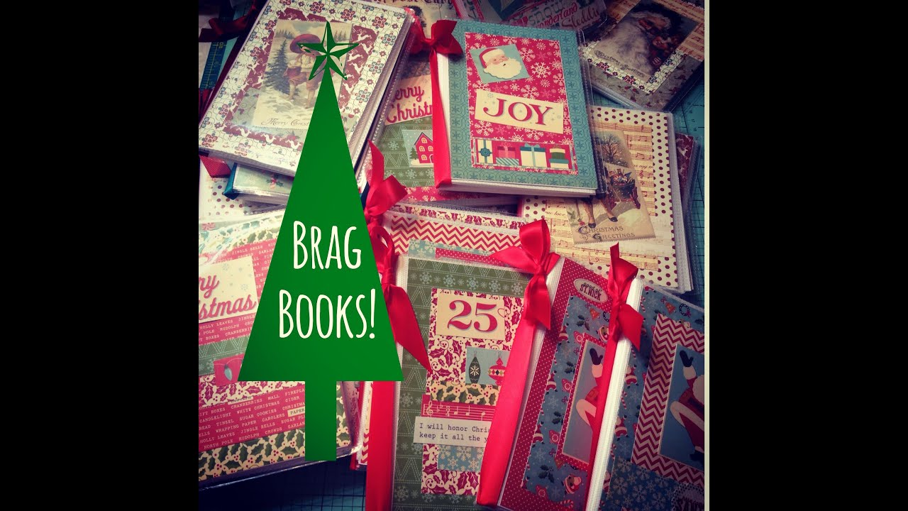 Christmas Craft Fair Ideas Part - 35: Craft Fair Idea #6: Christmas Brag Books! 2015 - YouTube