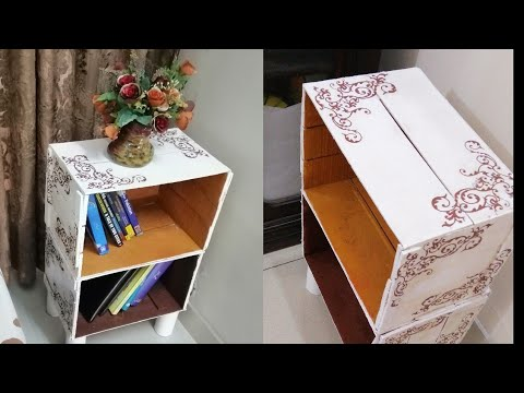 Best Out of Waste | Wonderful Crate Craft Idea |How to Decoupage Wooden Crates |