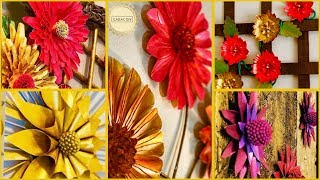5 Floral Wall Decoration Ideas| gadac diy| craft ideas| diy crafts| Room Decor| easy crafts