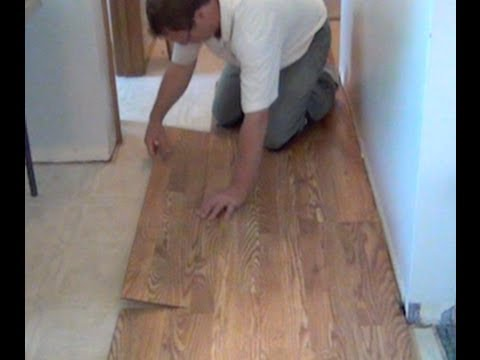 How To Install Laminate Hardwood Flooring YouTube - What do i put under laminate flooring