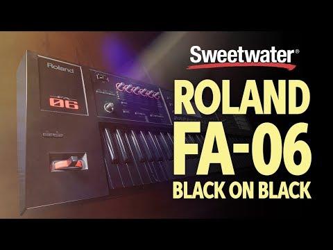 Roland FA-06 Black on Black + Bonus Sounds Play-through by Daniel Fisher