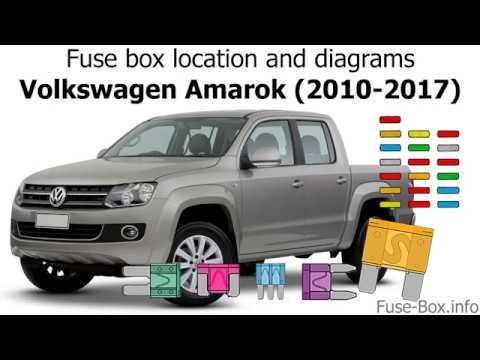 Fuse box location and diagrams: Volkswagen Amarok (2010