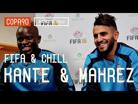 FIFA and Chill with Riyad Mahrez & Kanté | Leicester vs Arsenal - Poet & Vuj Present!