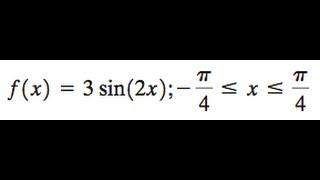 F(x) = 3sin(2x)