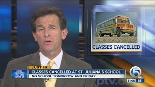 classes canceled at st julianas school